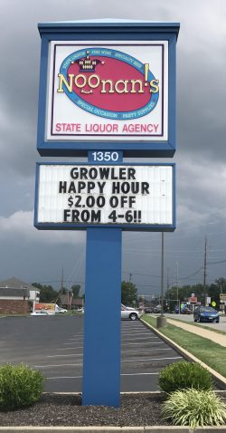 Noonan's Happy Hour Sign